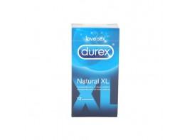 PRESERVA.DUREX NATURAL XL EASY ON 12U.